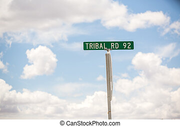 Tribal Road Sign - Tribal Road 92 Road Sign in New Mexico
