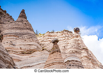 Unusual rock formations in Kasha Katuwe Park, USA - Unusual...