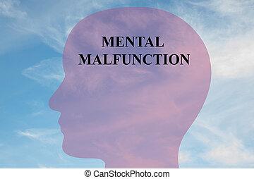 Mental Malfunction mental concept - Render illustration of...