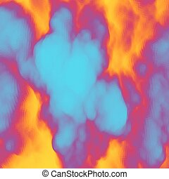 Smoke Mosaic Abstract Background Vector Illustration