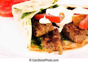 Single kebab - single and tasty kebab pita
