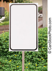 Horizontal Shot Of Blank Commercial Real Estate Sign
