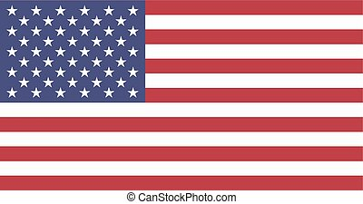Vector Image: American flag on a white background.