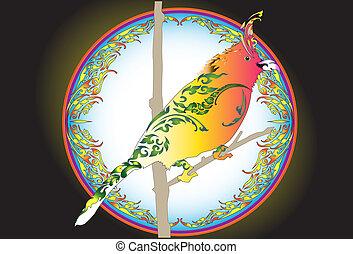 bird-design-line-thai - bird deign and line Thai