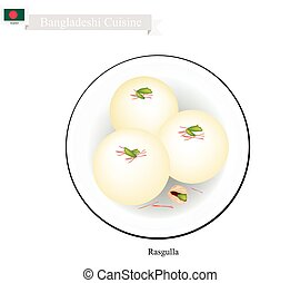 Rasgulla or Bangladeshi Milk Ball With Sweet Syrup -...
