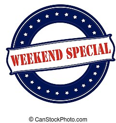 Weekend special - Rubber stamp with text weekend special...