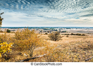 scenic view of Kharkov desert in autumn, Ukraine