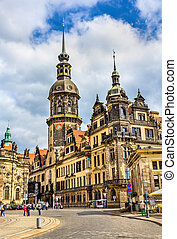 View of Dresden castle - Germany - View of Dresden castle in...