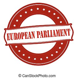 European parliament - Rubber stamp with text European...