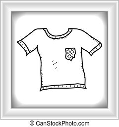 Simple doodle of a t-shirt - Simple hand drawn doodle of a...