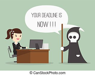 Deadline. Cartoon Illustration