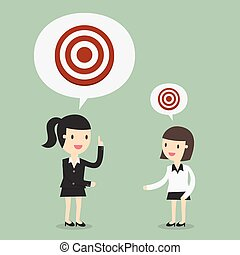 Big Target. Business Concept Cartoon Illustration