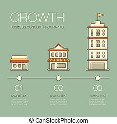 Business growth. Business infographics elements in modern...