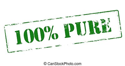 One hundred percent pure - Rubber stamp with text one...