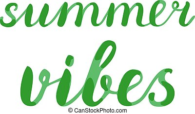 Summer vibes lettering. Brush hand lettering. Great for...
