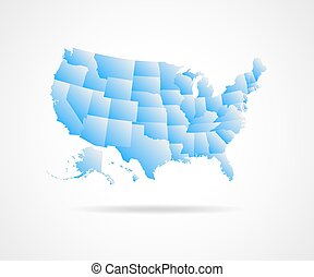 USA states illustration.