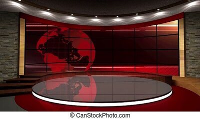News TV Studio Set -06 - News TV Studio Set 06 - Virtual...