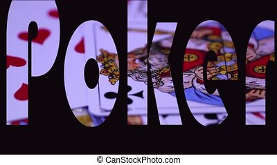 poker animation text on the gaming table