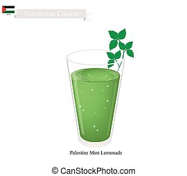 Limonana or in Palestinian Frozen Mint Lemonade -...