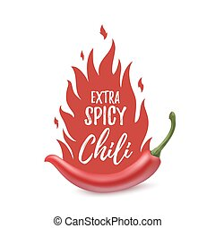 Extra spicy chili paper poster template - Extra spicy chili...