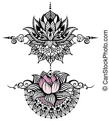 Lotus flower set