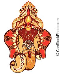 Head of Hindu god Ganesha