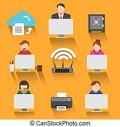 teamwork icon set