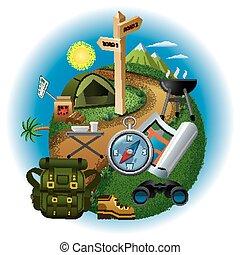 tourism concept illustration
