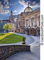 Dresden. - Image of Dresden old town at spring day.