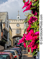 Historical Totnes in Devon, England, UK