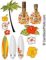 Hawajczyk, odpoczynek, attributes