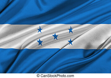 Flag of Honduras - Flag of Honduras waving in the wind