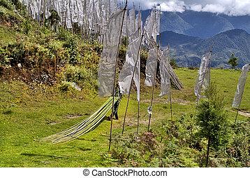 Bhutan, Trashigang, - Bhutan, unidentified man with bamboo...