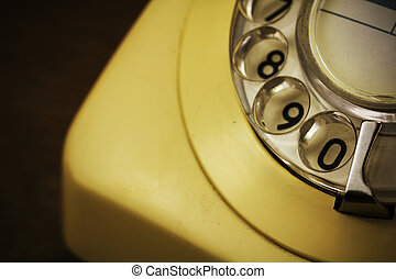 Old retro style rotary telephone - Old well used retro style...