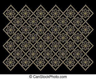 gold pearls pattern - black background with gold pearls...