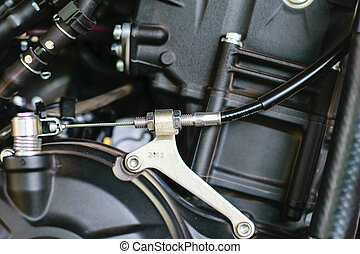 throttle cable with motorcycle on background