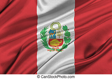 Flag of Peru. - Flag of Peru waving in the wind.