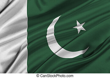Flag of Pakistan - Flag of Pakistan waving in the wind