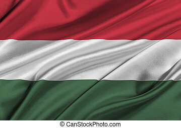 Flag of Hungary - Flag of Hungary waving in the wind