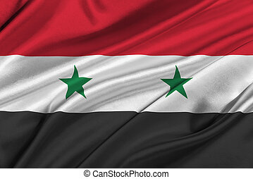 Flag of Syria waving in the wind