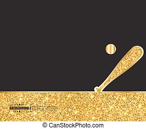 Creative vector baseball. Art illustration template...