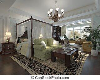 Bedroom Interior 3D Rendering