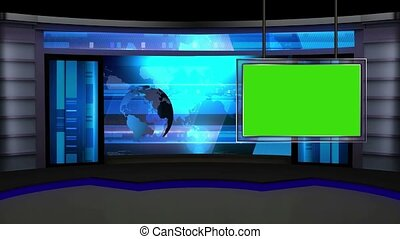 News TV Studio Set -13 - News TV Studio Set 13 - Virtual...