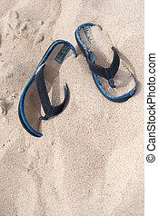 Flip Flop Beach Sandals - A pair of flip flops or sandals...
