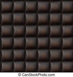 Luxurious Leather Texture - Dark brown leather padded...