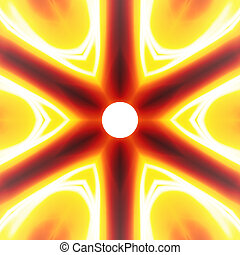 Fiery Abstract Vortex - Fiery hot abstract vortex that looks...