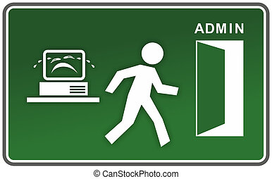 funny computer error - sign for computer error with figure...