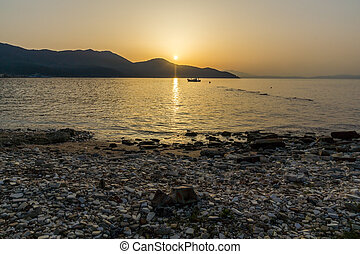 Sunset on the beach of Thassos - Amazing Sunset on the beach...