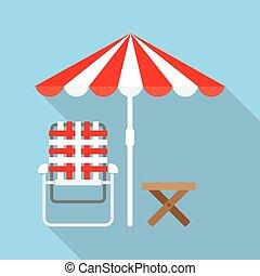 Lounger Beach Sunbed - Beach Umbrella and Lounger Beach -...