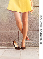 Womans legs in full length - Picture of beautiful womans...
